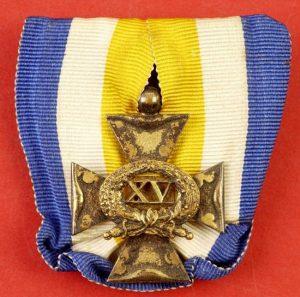 WW2 DUTCH OFFICER 15-YEAR SERVICE MEDAL -CROSS
