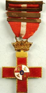 WW2 SPANISH MILITARY MERIT CROSS MEDAL FOR WAR SERVICE – 3RD AWARD