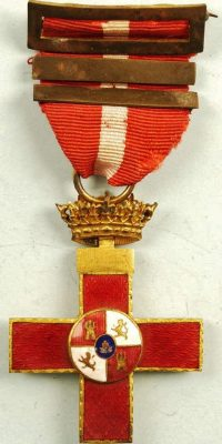 WW2 SPANISH MILITARY MERIT CROSS MEDAL FOR WAR SERVICE – 3RD AWARD