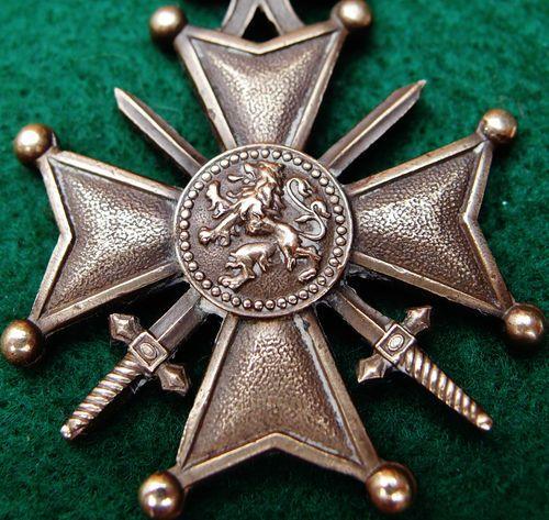 WW1 BELGIUM MILITARY CROSS OF WAR FOR GALLANTRY (CROIX DE GUERRE) MEDAL