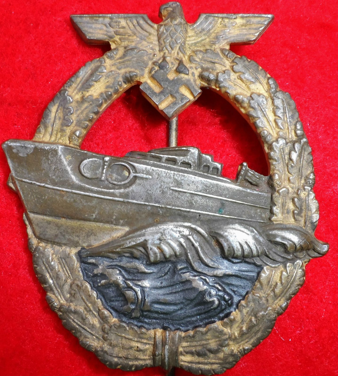 WW2 GERMAN NAVY KRIEGSMARINE E BOAT BADGE