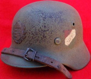 WW2 M40 HELMET WORN BY PRO NAZI HUNGARIAN VOLUNTEER