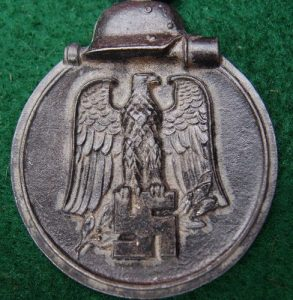 WW2 GERMAN NAZI WINTER RUSSIAN FRONT SERVICE MEDAL-2