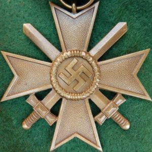 WW2 NAZI GERMANY WAR MERIT CROSS WITH SWORDS MEDAL