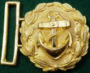 VINTAGE WW2 GOLDEN GERMANY NAVY BROCADE UNIFORM BELT BUCKLE