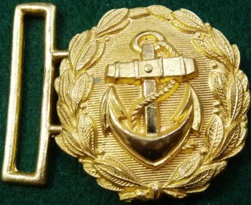 VINTAGE WW2 GOLDEN GERMANY NAVY BROCADE UNIFORM BELT BUCKLE
