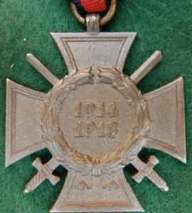 WW1 GERMANY WAR HONOUR CROSS WITH SWORDS