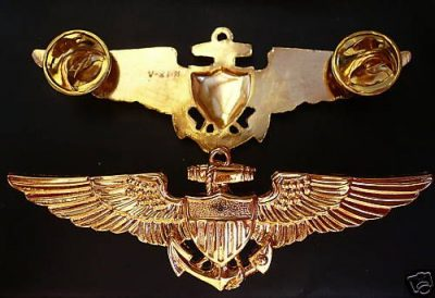 US NAVY PILOT-AVIATION QUALIFICATION BADGE WINGS