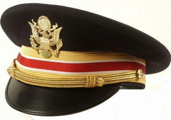 US ARMY ENGINEER OFFICER VISOR CAP, KINGFORM DELUXE