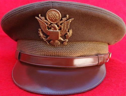 WW2 US ARMY OFFICER PEAKED UNIFORM CAP