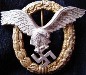 WW2 GERMAN LUFTWAFFE CASED COMBINED PILOT OBSERVERS BADGE