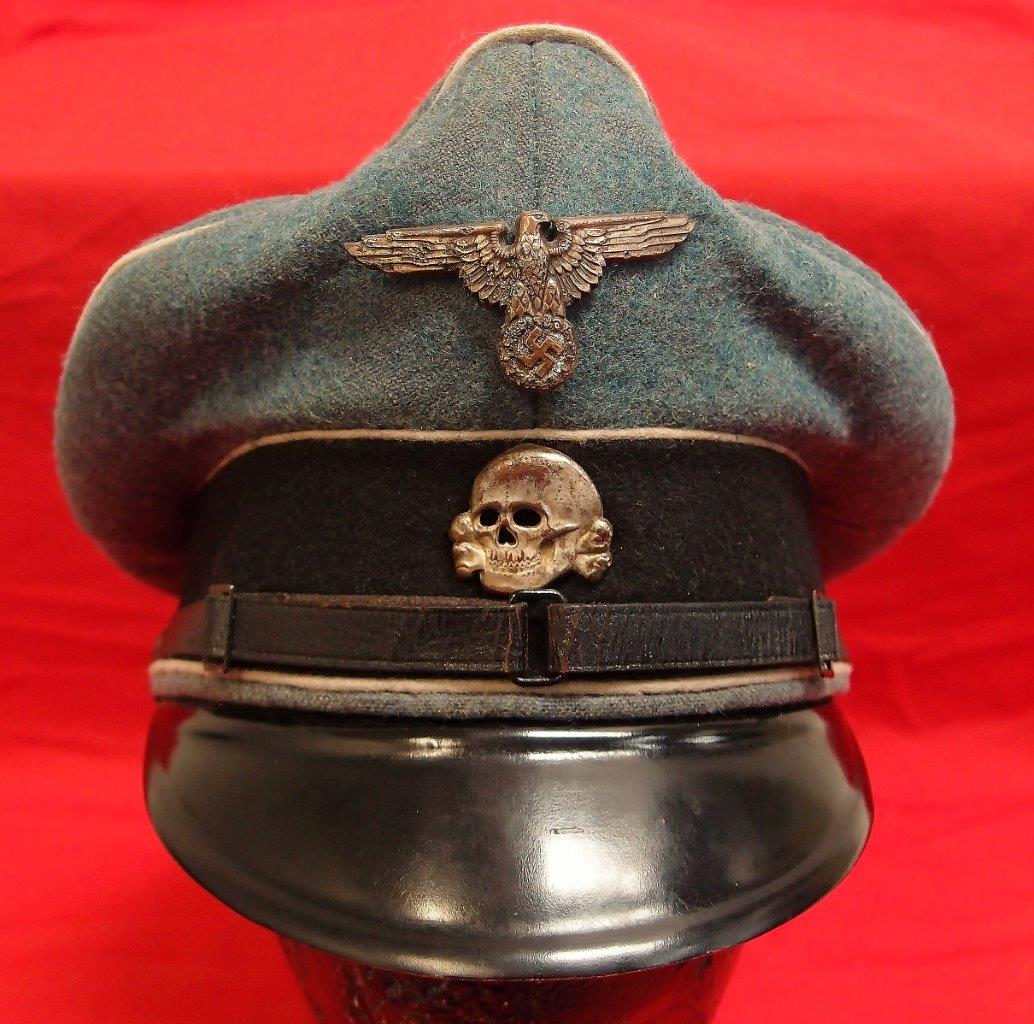 f37c84d31f1ee German Waffen-SS NCO's Visor Cap – JB Military Antiques