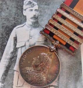 BOER WAR QUEENS SOUTH AFRICA MEDAL NEW ZEALAND 5th CONT JAMIESON RAIDER MAJOR DEWAR