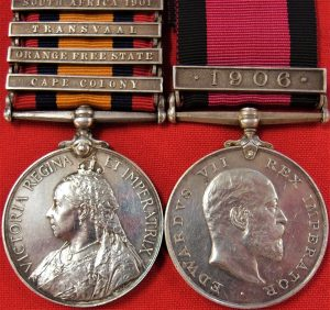 british-army-boer-war-queens-south-africa-natal-medal-yeomanry-durban-l-i