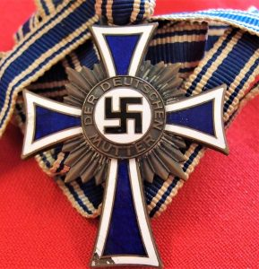 WW2 NAZI GERMANY MOTHERS CROSS IN BRONZE