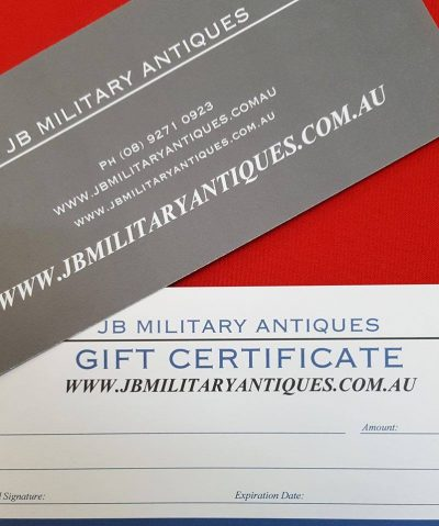 JB Military Antiques $50 Gift voucher