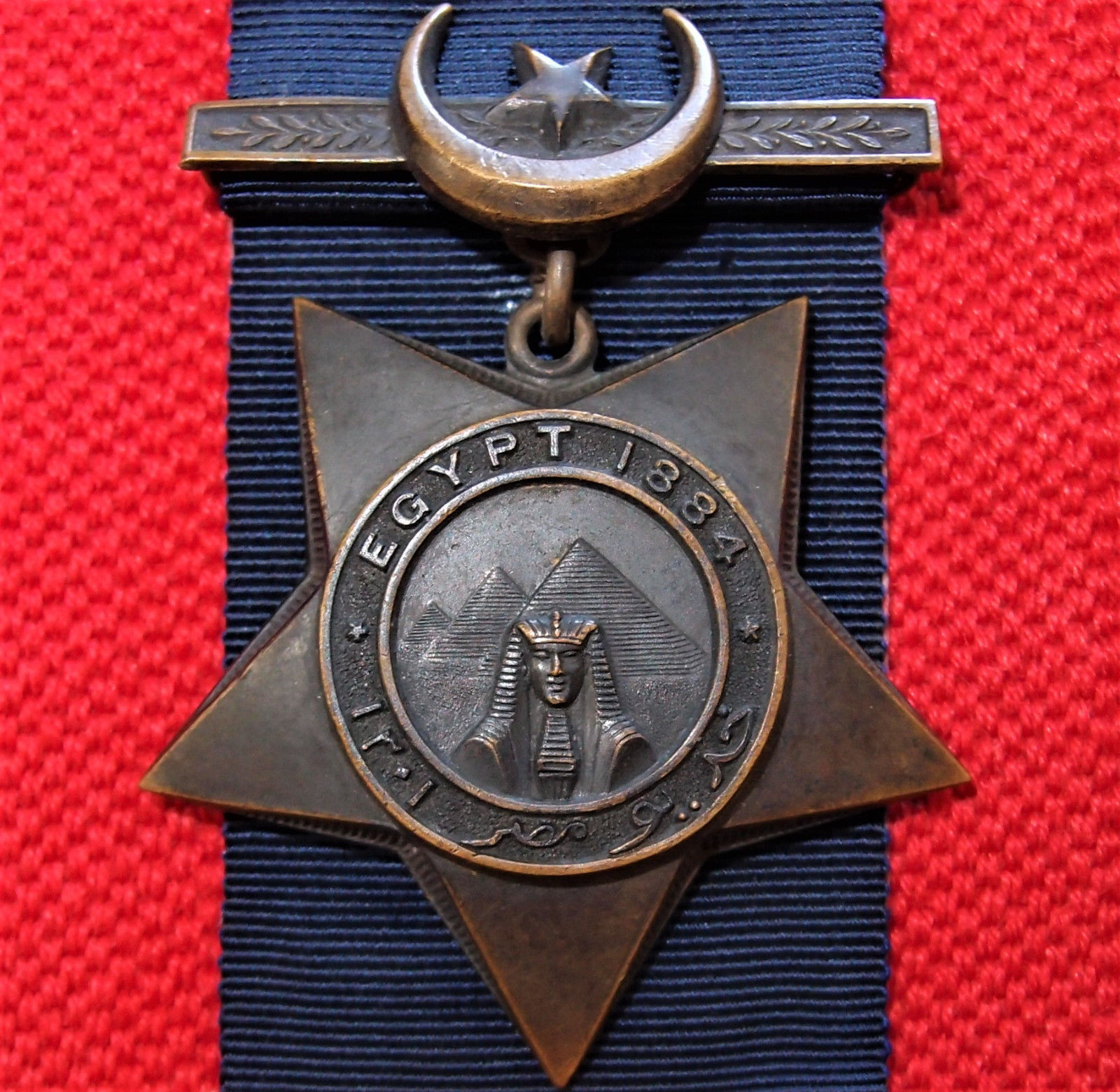 Sold British Army 1884 Khedives Star Medal Egyptian Campaign