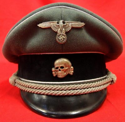 **SOLD** WW2 GERMAN WAFFEN-SS GENERAL OFFICERS VISOR CAP