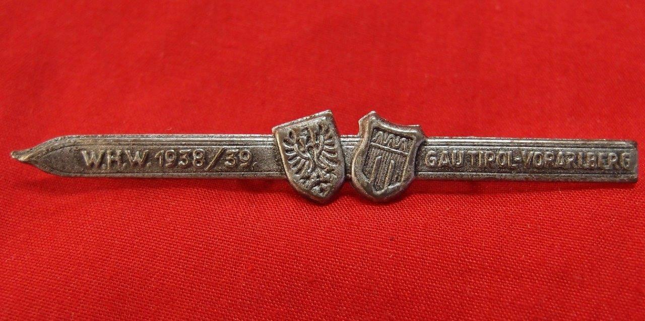 WW2 GERMAN WINTER HELP TINNIE 1938-39