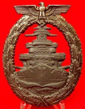 WW2 GERMAN KRIEGSMARINE HIGH SEAS FLEET BADGE BY FRIEDRICH ORTH