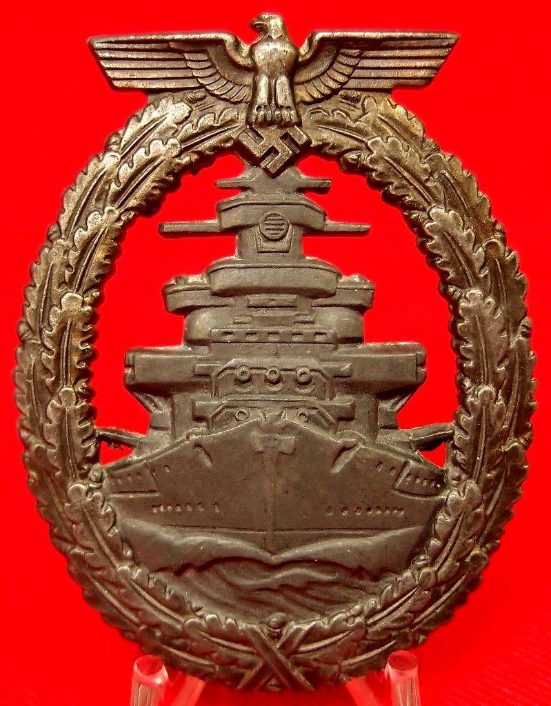 WW2 GERMAN KRIEGSMARINE HIGH SEAS FLEET BADGE BY FRIEDRICH ORTH