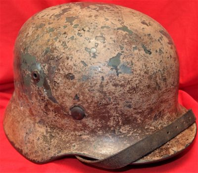 WW2 GERMAN ARMY M35 AFRIKA KORPS CAMOUFLAGE UNIFORM STEEL HELMET 5