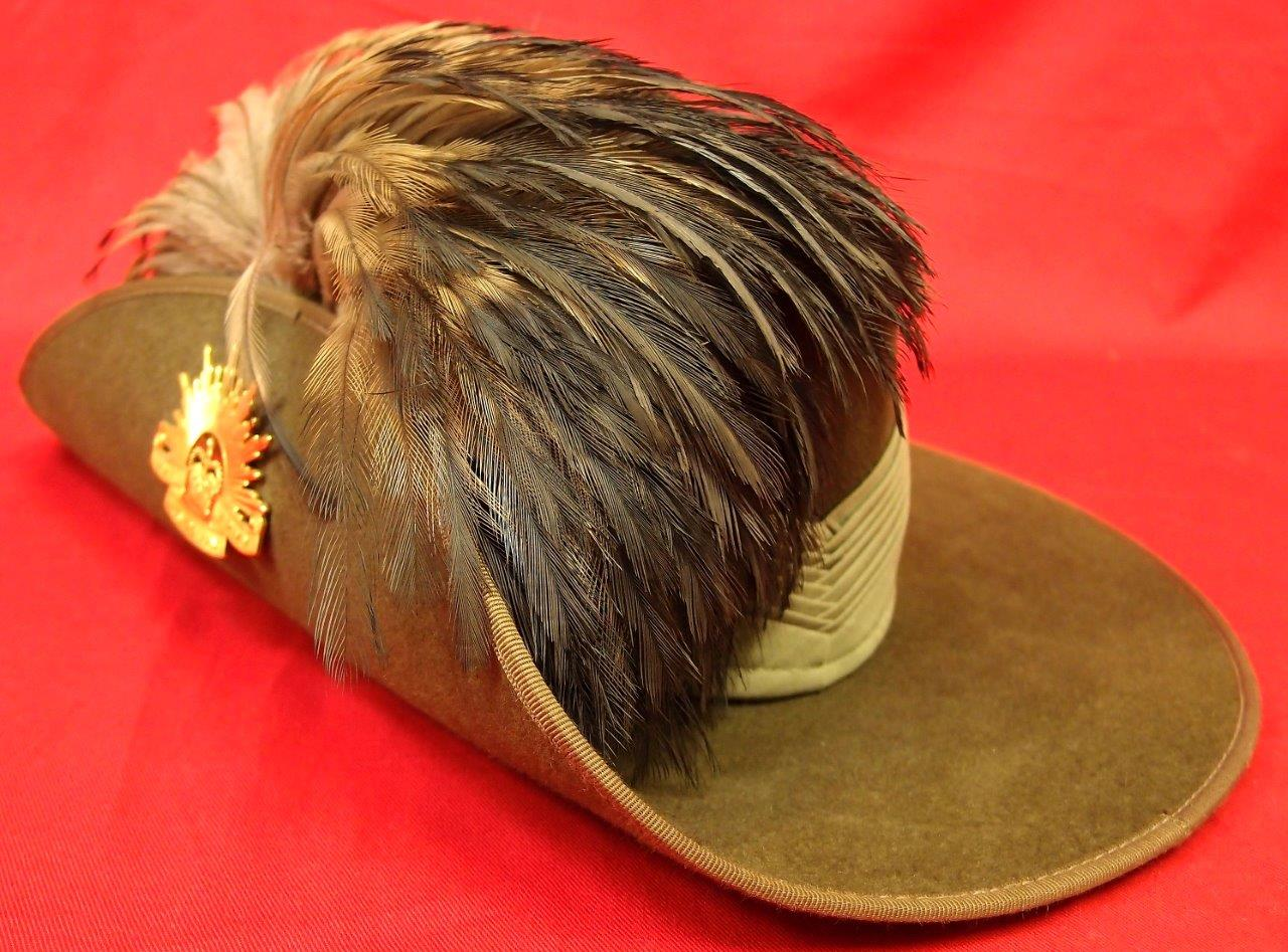 Sold Australian 2nd Cavalry Parade Slouch Hat With Emu