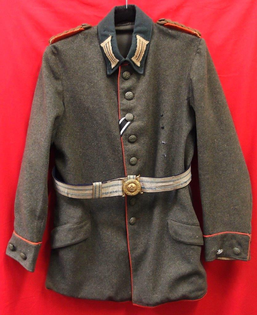 WW1 GERMAN INFANTRY MAJOR'S TUNIC JACKET WITH CAP AND BELT