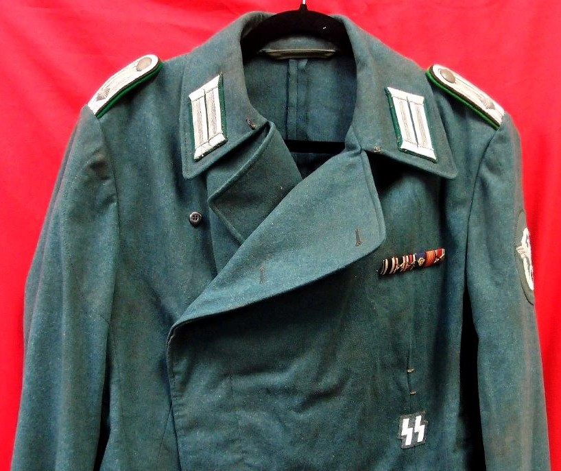 Ww2 German Police Panzer Tunic And Pants For Ss Member