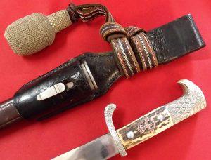 2nd Pattern Nazi German Navy Dagger And Scabbard Jb
