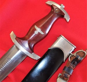 WW2 NAZI GERMAN NSKK 1ST PATTERN DAGGER & SCABBARD BY S.M.F.