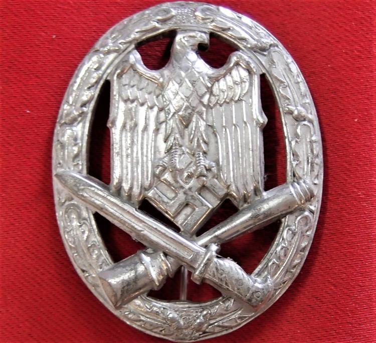 **SOLD** WW2 GERMAN ARMY GENERAL ASSAULT BADGE