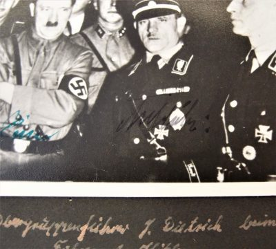 Hitler, Georing, Sepp Dietrich signed photos 4