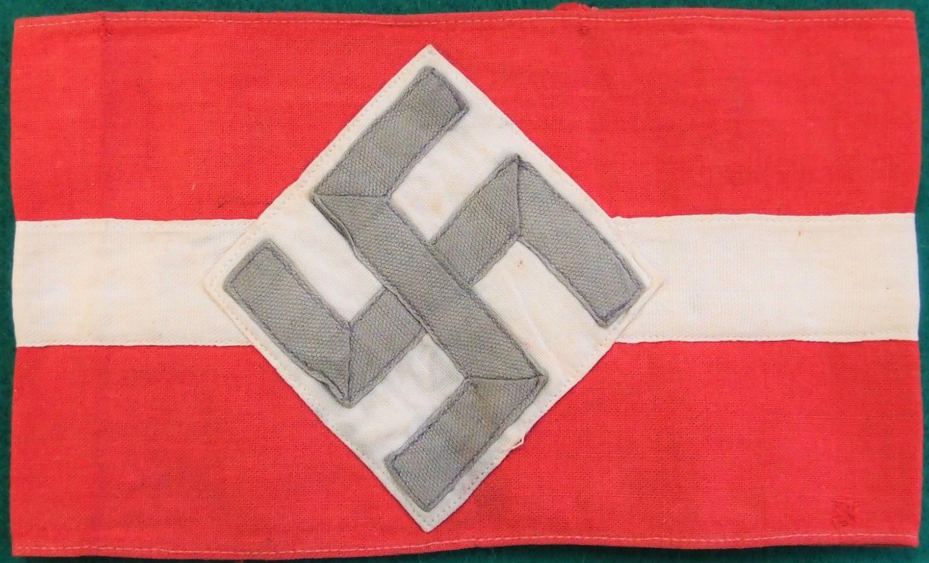 PRE WAR NAZI HITLER YOUTH ARMBAND