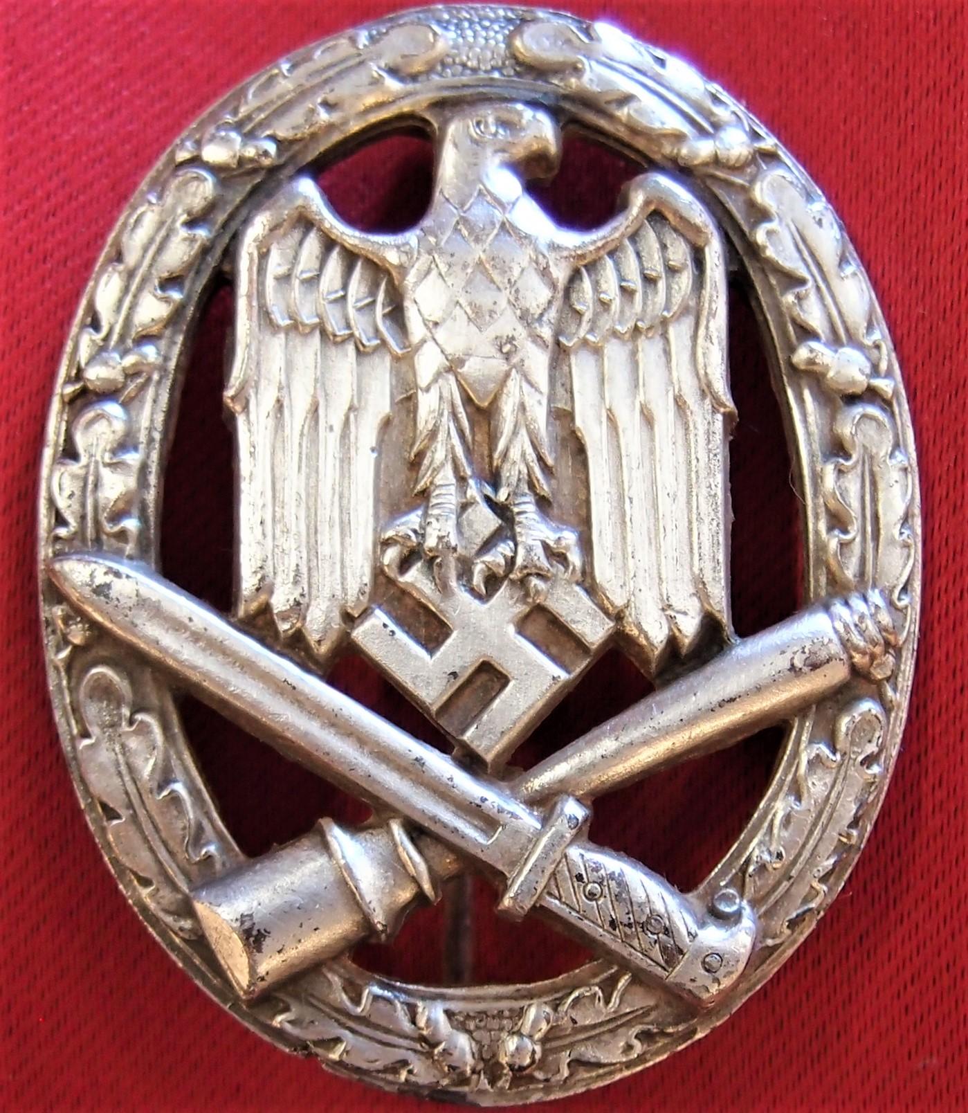 ** SOLD** WW2 NAZI GERMAN ARMY GENERAL ASSAULT BADGE