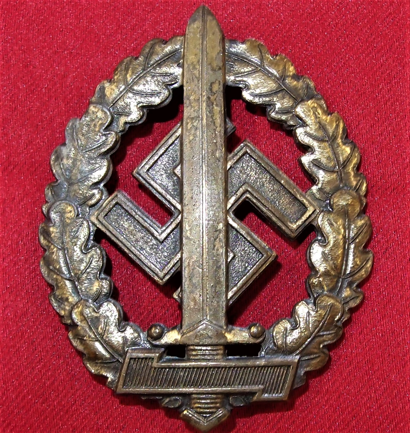 GERMAN NAZI SA SPORTS BADGE IN BRONZE FOR WAR DISABLED