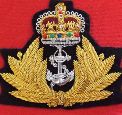 CURRENT ROYAL AUSTRALIAN NAVY OFFICER'S UNIFORM CAP BADGE R.A.N. R.N.