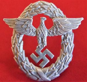 WW2 GERMAN NAZI FIRE POLICE UNIFORM CAP EAGLE