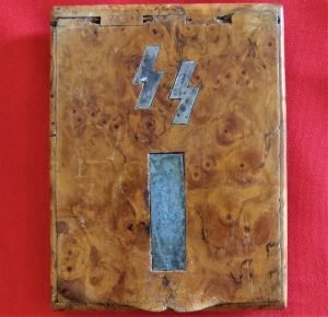 WW2 GERMAN SS CIGARETTE CASE CHRISTMAS GIFT - 23RD PANZER REGIMENT NORGE