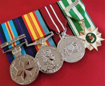 REPLICA AUSTRALIAN VIETNAM WAR SET OF 4 COURT MOUNTED MEDALS