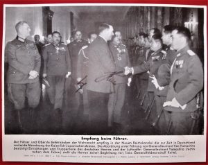 WW2 GERMAN ADOLF HITLER SIGNED JAPANESE MILITARY VISIT 1941
