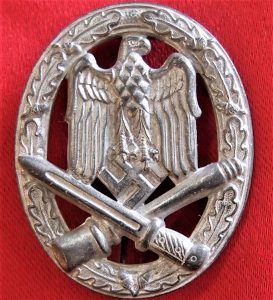 WW2 NAZI GERMAN ARMY SS GENERAL ASSAULT BADGE BY FRIEDRICH ORTH