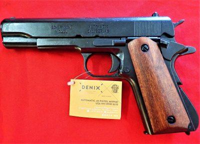 REPLICA M1911 US COLT HAND GUN PISTOL DENIX – WOODEN GRIPS STRIP DOWN TYPE