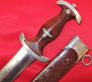 NAZI GERMANY 1ST MODEL 1933 SA DAGGER WITH SCABBARD BY MALSCH & AMBRONN