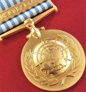 AUSTRALIA ARMY NAVY AIR FORCE UNITED NATIONS KOREA WAR SERVICE MEDAL REPLICA