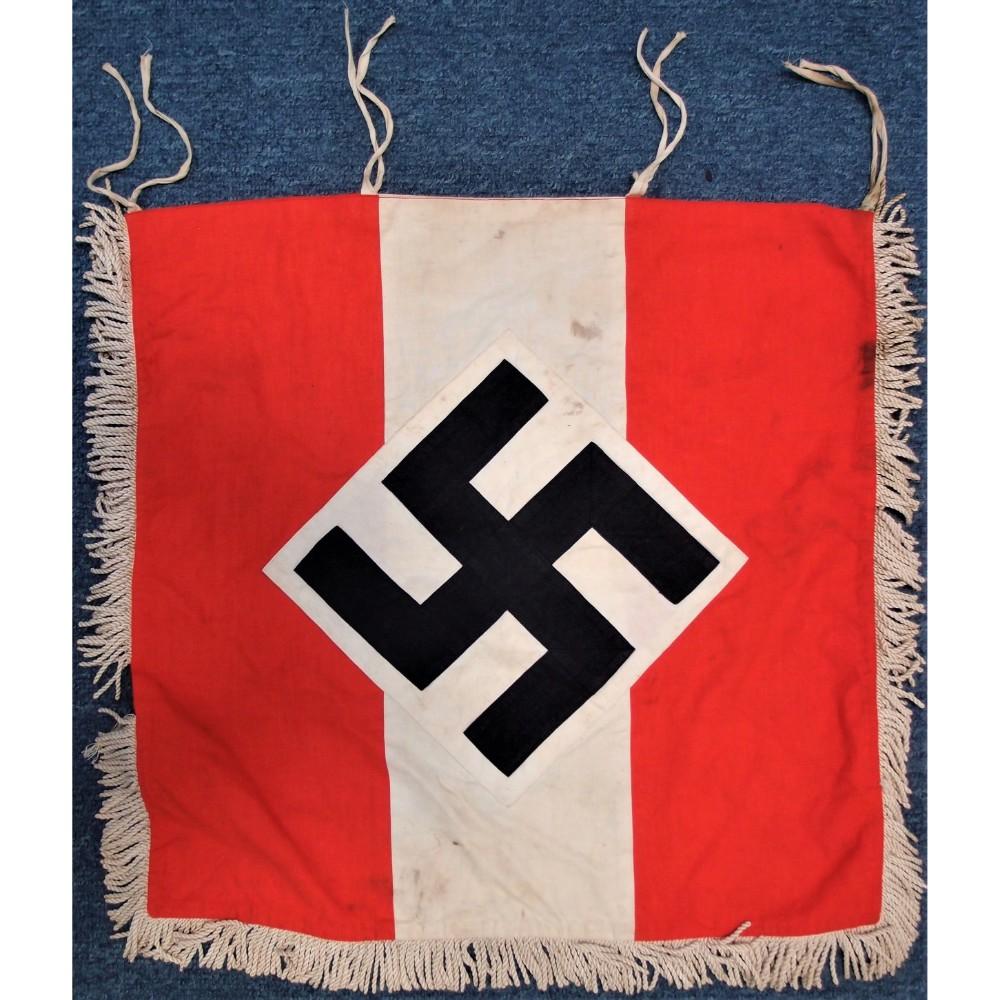 WW2 GERMAN HITLER YOUTH TRUMPET FLAG