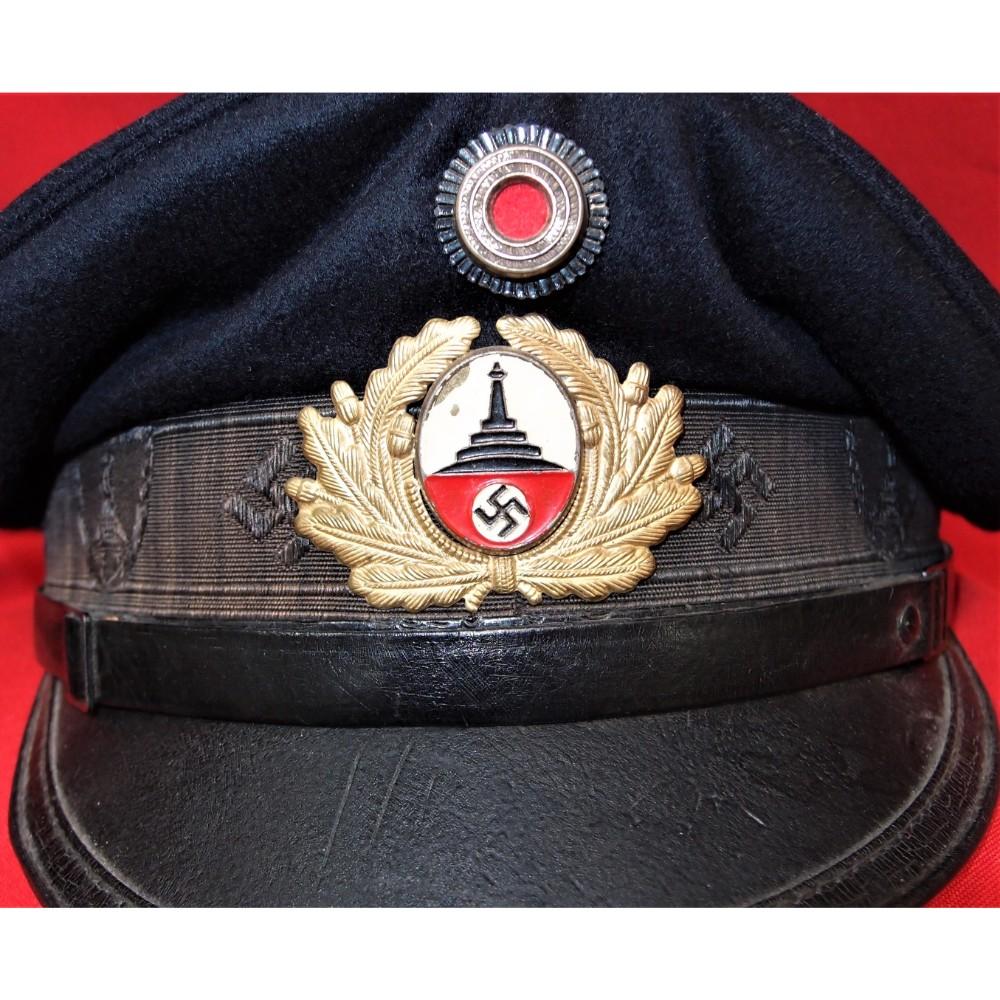 3165a9d7a03 WW2 GERMAN D.R.K.B. (DEUTSCHER REICHSKRIEGERBUND) VETERANS LEAGUE VISOR CAP  – JB Military Antiques
