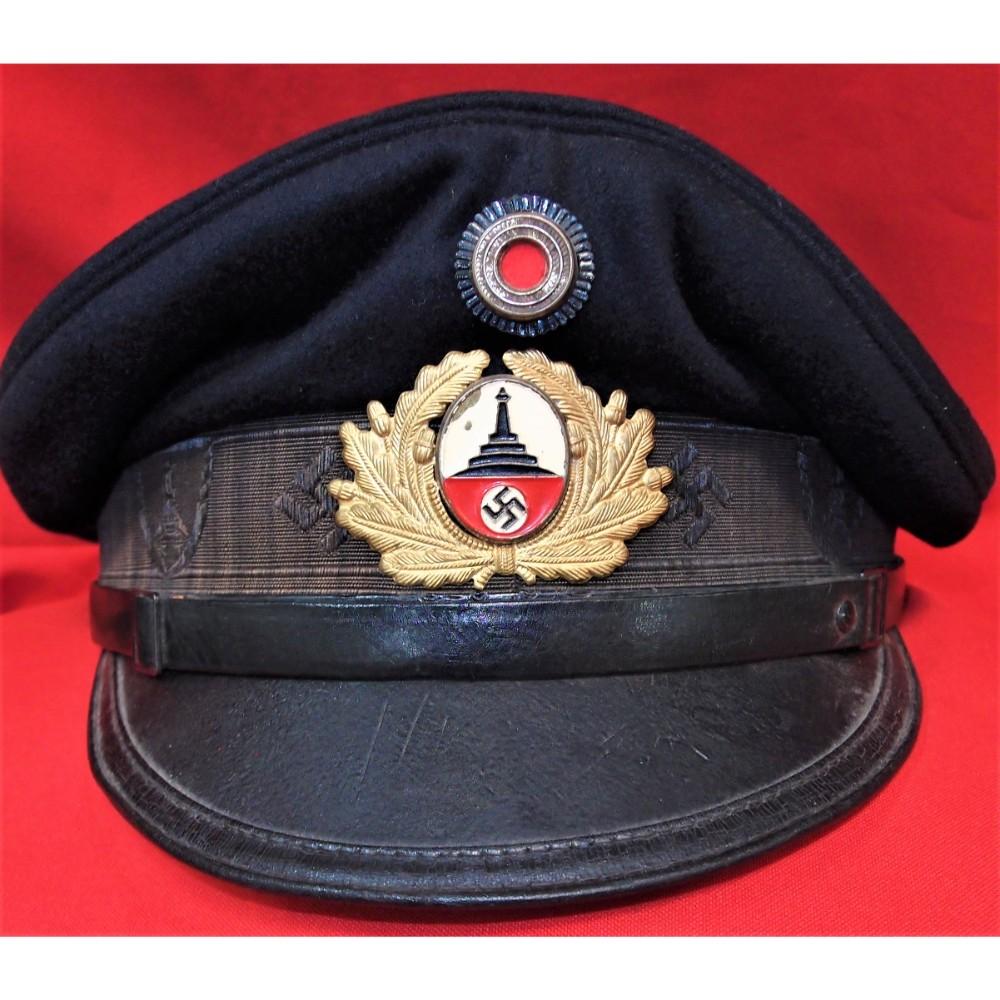 3f2ff23404a WW2 GERMAN D.R.K.B. (DEUTSCHER REICHSKRIEGERBUND) VETERANS LEAGUE VISOR CAP
