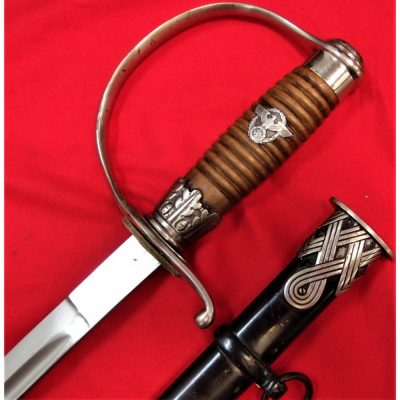C.1935 EARLY EXAMPLE POLICE OFFICER'S SWORD & SCABBARD TO S.S. MEMBER BY KREBS