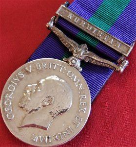 1918-62 BRITISH GENERAL SERVICE MEDAL WW1 KURDISTAN CAMPAIGN 16th PUNJABI REGT